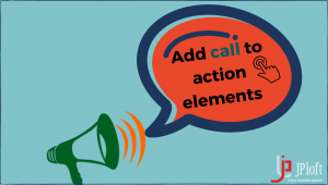 Add call to action elements