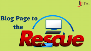 Blog Page to the rescue