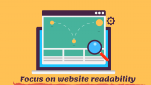 Focus on website readability
