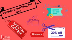 Provide something for free